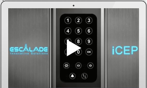 escalade s icep intelligent connected elevator panel intelligent